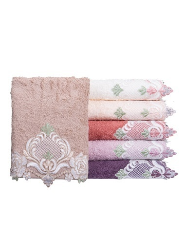 Minteks Romantic Olıvyum 50x90 6 lı 6 Renk Havlu Seti Renkli